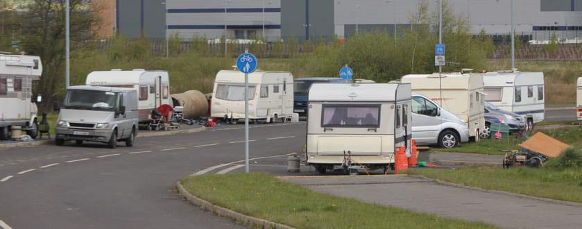 Traveller Evictions. Comprehensive Traveller eviction services and illegal traveler eviction across Manchester, Cheshire, Warrington, Liverpool, Merseyside, Wigan, Widnes, Runcorn, Halton, Northwich, Bolton, Crewe, Stockport, Oldham, Skemlersdale, Wythenshawe, Rochdale, Trafford park, Stretford, Leigh, St Helens, Ellesmere Port, Kirkby, Blackburn, Prestwich, Altrincham, Salford, Winsford, Middlewich, Birkenhead and all surrounding areas within the North West from Uniqwin.