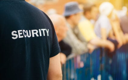 Venues - Sport Stadiums, Music security officers for Nottinghamshire